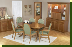 Wall units, dressers, display cabinets and sideboards with matching dining tables and chairs