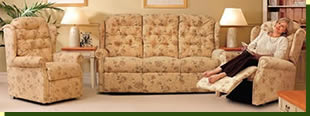 A large selection of recliners